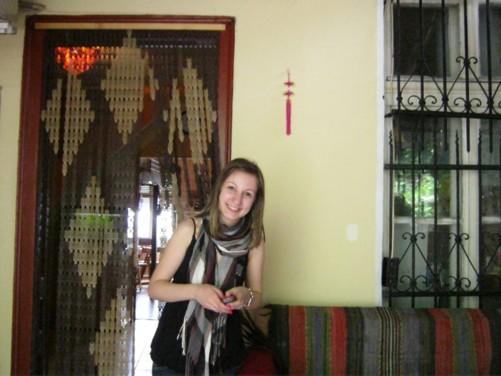 Hikers Hostel. A Bulgarian girl named Nelly from Plovdiv – a staff member at the hostel.