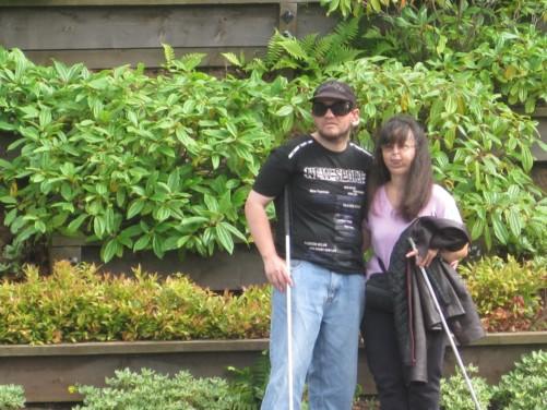 Tony and Tatiana in Northernhay Gardens.