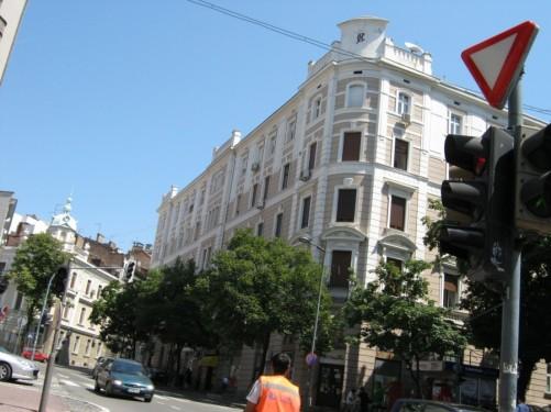 Downtown Belgrade.