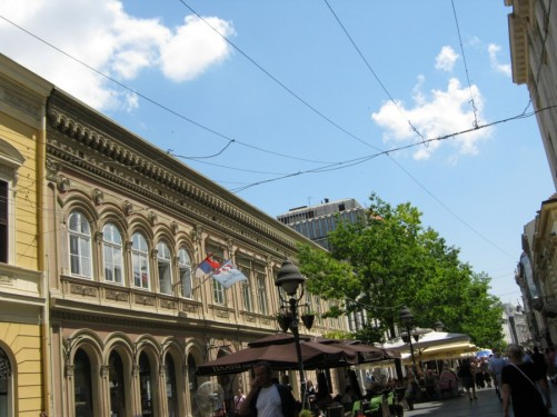 Knez Mihailova (Prince Mihailo) Street, which is the main pedestrian area in the city. It leads to Republic Square with its fountain.
