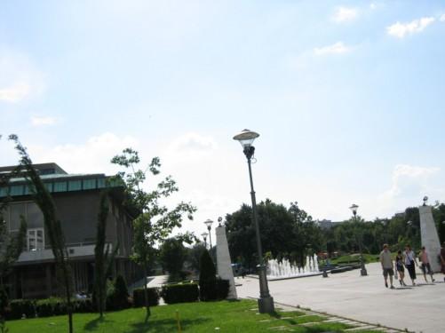 Karađorđev park located in front of St. Sava Temple.