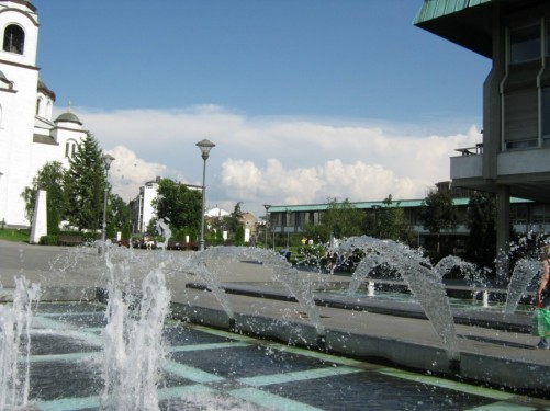 Another view of fountains.