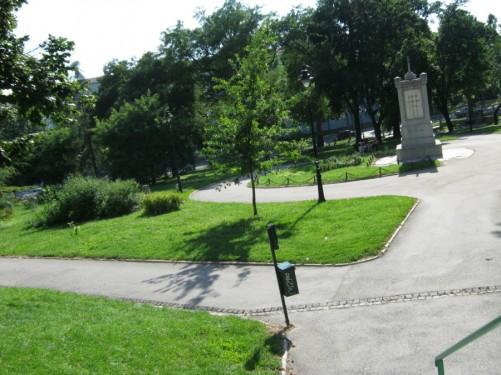 Park near St. Sava Temple.