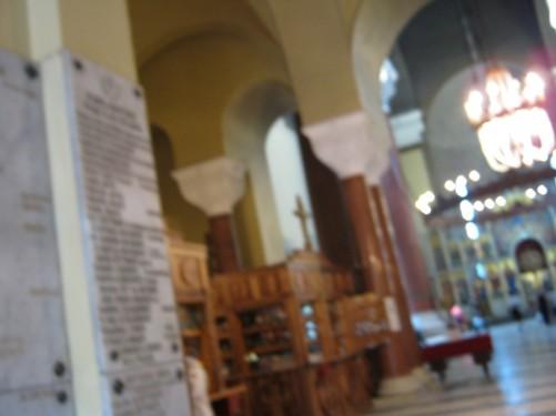 Interior of St. Mark's church.