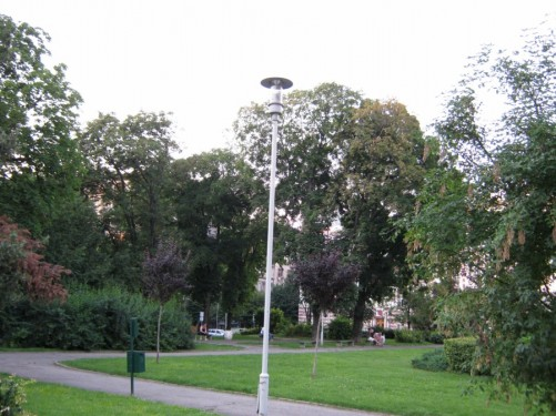 A park near to the Serbian parliament.