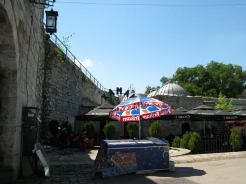 View towards the hamam (Turkish bath house) inside Niš fortress.