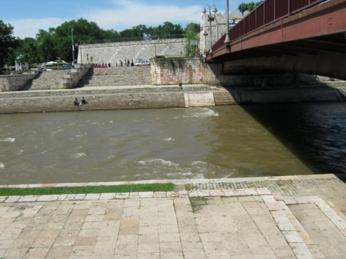 View across the river towards the Niš fortress gate.