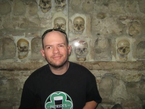Tony at the Skull Tower.