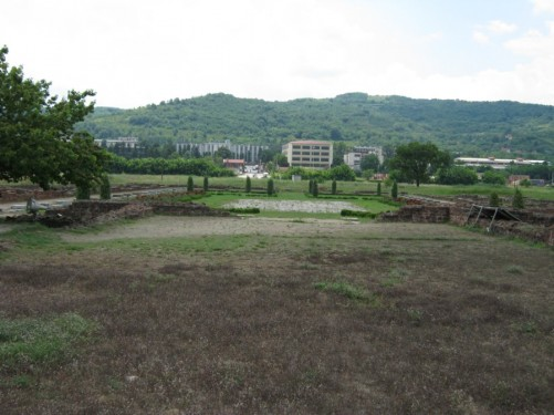 View across Mediana archaeological site.