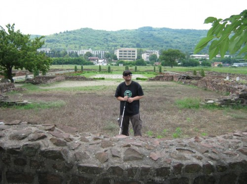 Tony at the Roman archaeological site of Mediana. He is inside the ruins of the palace.