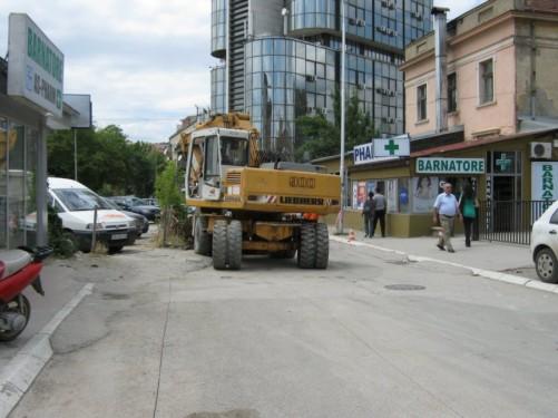 Street in downtown Pristina.