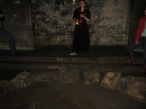 Inside Edinburgh's vaults on The Edinburgh Ghost Tour.