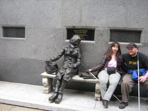 Tony & Tatiana sat with Eleanor Rigby.