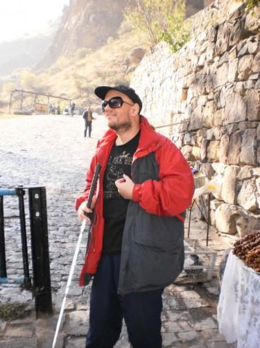 Tony at Gighart Monastery.