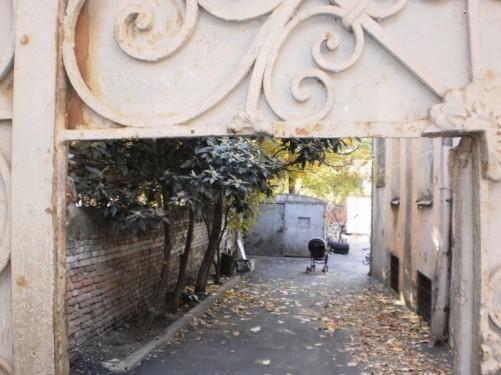 View through gate.