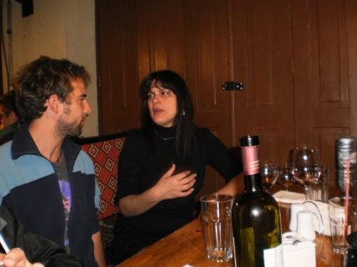 Aaron and Sandra at a local Georgian restaurant.