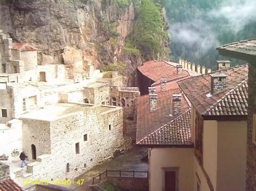 Sumela Monastery buildings.