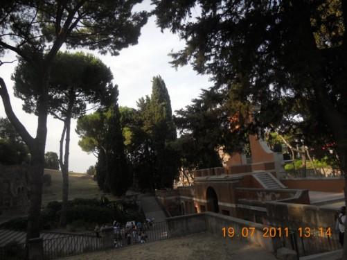 Steps at Palatine Hill.