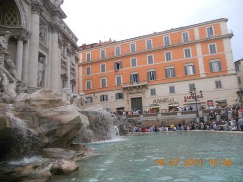 Trevi Fountain.