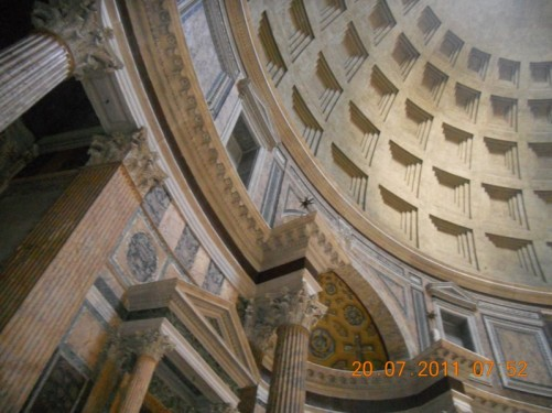 View of the Pantheon's interior.
