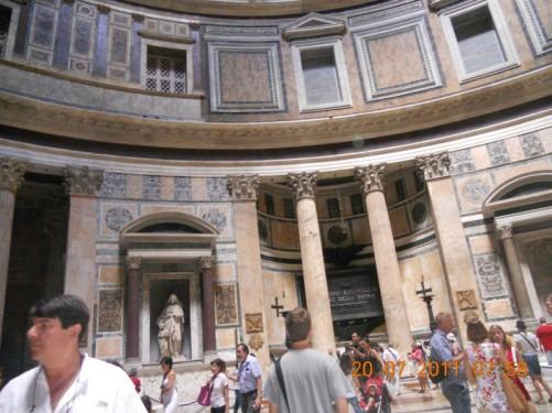 Pantheon's interior.