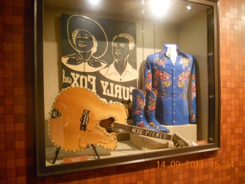 Dressing room and items of popular 1950s country singer-song writer Webb Pierce