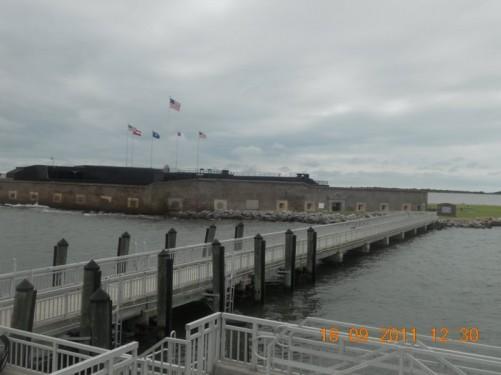 Ferry landing point.