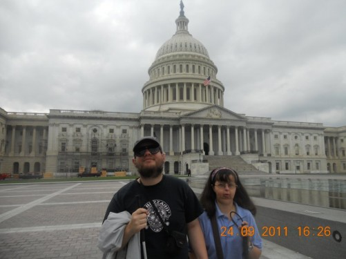 Tony, Tatiana in front of the United States Capitol Building, East Front.