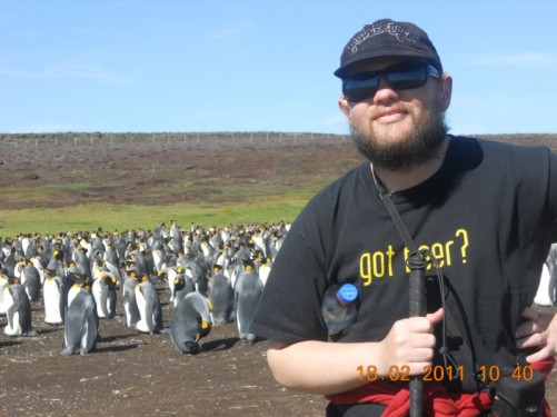 Tony with King Penguins.