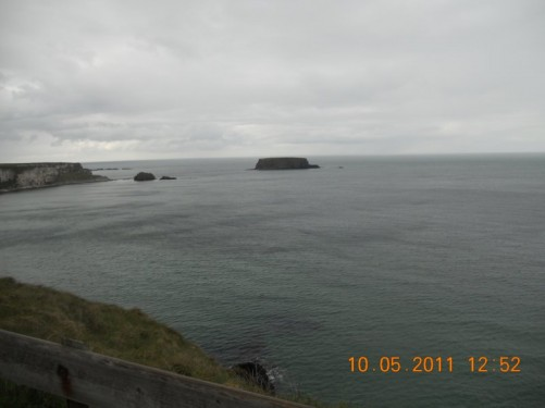 Another view of the Irish Sea from the cliff top.