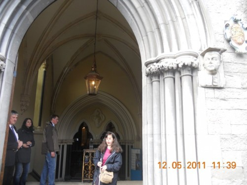 Doorway of St Patrick's Cathedral.