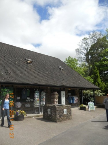 A building and gift shop at the entrance to Blarney Castle, Blarney Village, County Cork.