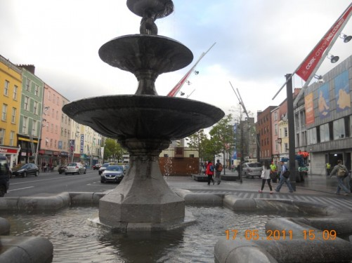 Berwick Fountain in Grand Parade, Cork City centre, taken in the evening.