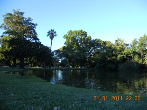 Lado de Palermo, lake in Palermo Park, downtown Buenos Aires.