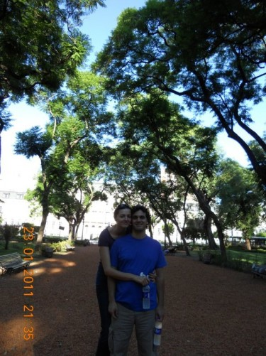 Inma and Rodrigo in another park, downtown Buenos Aires.