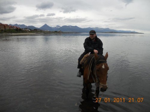 Again riding in the Beagle Channel. View along the coastline.