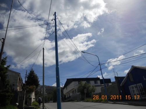 A steep street in Ushuaia.
