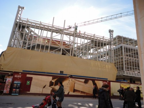 Another view of building work at Valletta City Gate.