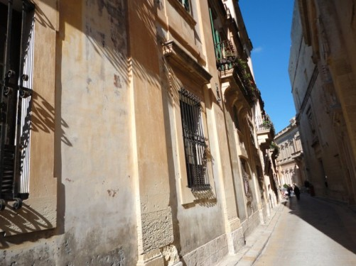 A narrow side street in Mdina.