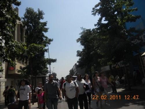 A busy pedestrian street.