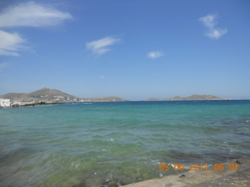 Looking into the bay at Naoussa.