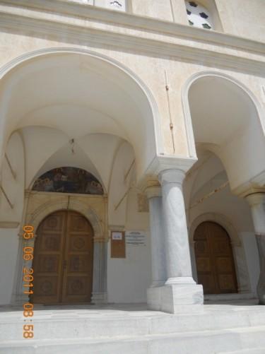 Doorway into the Church of Agia Triada.