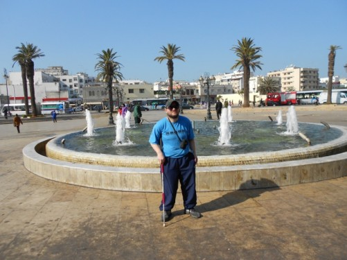 Tony again in front of the fountain in Bab El Had Square.