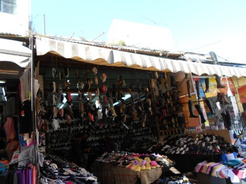 A shoe shop. The medina.