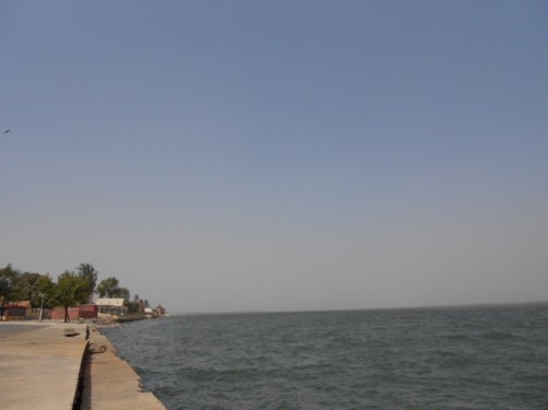 Looking out along the Senegal River.