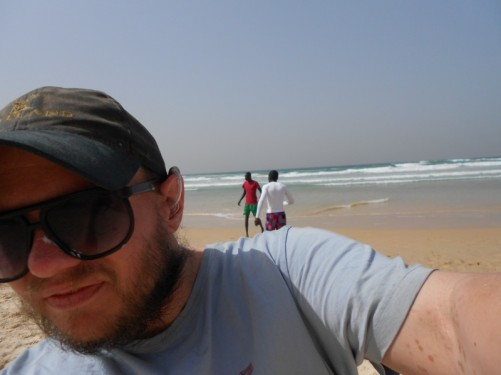 Tony on the beach (self taken).