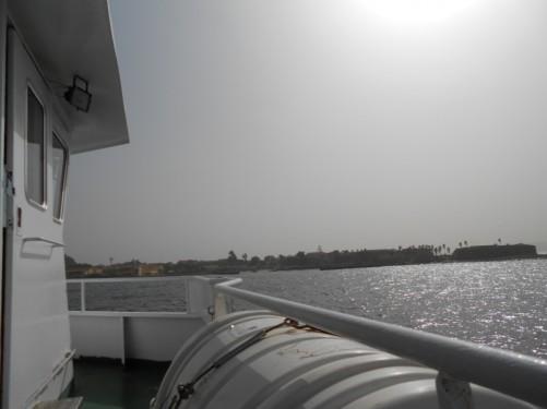 Now nearing the Ile de Gorée.