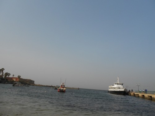 Gorée harbour seen from the beach.