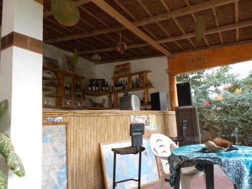 An outdoor café bar.