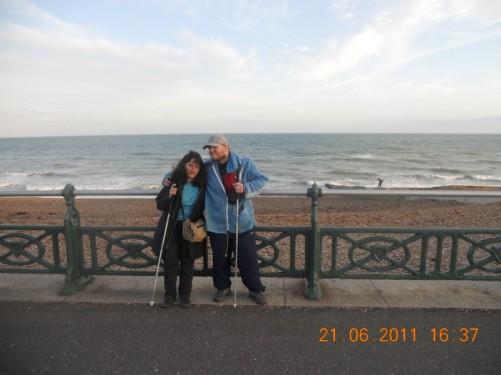 Tony and Tatiana on the sea front promenade.